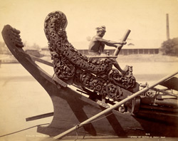 Stern of Burmese paddy boat